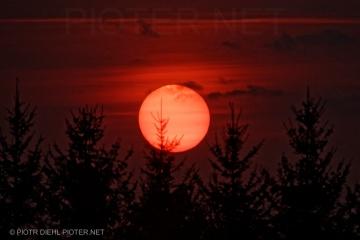 Zachód słońca w Smoszewie