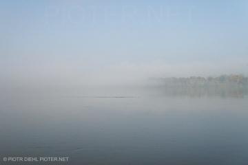 Wisła we mgle