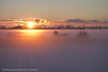 Zachód słońca pod Miłomłynem